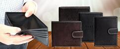 Značkové pánske kožené peňaženky