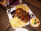Bohatý kačací tanier pre 2 osoby s dezertom
