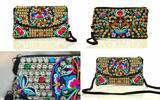 Vyšívané látkové kabelky a peňaženky
