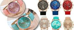 Nádherné dámske hodinky Geneva Platinum v rôznych farbách