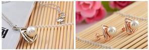Krásny 3-dielny set šperkov Perla alebo Štvorlístok