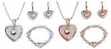 3-dielny set krásnych, masívnych šperkov alebo romantický náhrdelník Heart in