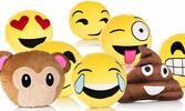 Mäkučké vankúšiky v tvare Emoji smajlíkov
