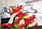 Štýlové 3-dielne posteľné obliečky s 3D motívom
