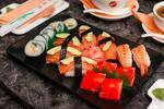 Ázijské alebo sushi menu pre dvoch v Avione