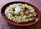Obrovská porcia (600 g) bryndzových halušiek so slaninkou v Haluškárni