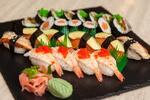 Sushi menu s ostrokyslou polievkou v Asian Restaurant Sunshine v Auparku