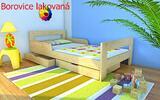 Detské postele z masívu s roštom i matracom