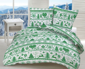 Bavlnené posteľné obliečky s vianočným vzorom