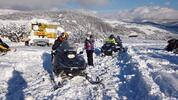 Adrenalín na snežných skútroch