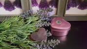 Levanduľové mydlo v srdcovitej krabičke