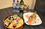 Sushi menu v tradičnej ázijskej reštaurácii Sushi Hamasaki