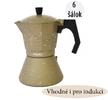 Moka kanvičky pre prípravu silnej lahodnej kávy