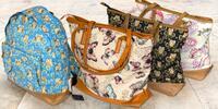 Dámske plátené tašky a batohy s potlačou