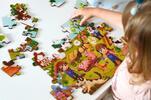 Drevené puzzle s detským motívom (farma)