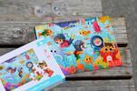 Drevené puzzle s detským motívom (podmorský svet)