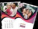Mesačný kalendár z vlastných fotografií vo formáte A4 / šablóna 13