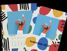 Mesačný kalendár z vlastných fotografií vo formáte A4 / šablóna 16
