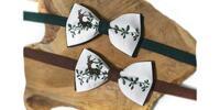 Pánsky folklórny motýlik alebo set s trakmi