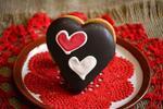 5 x 70 g Plnené srdce ovocným lekvárom s čokoládovou polevou