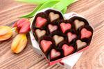 Pralinky z belgickej čokolády v darčekovej bonboniére