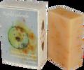 """85 g Prírodné citrusové mydlo s nechtíkovými lupienkami a rakytníkom ,,Rajská záhrada"""""""