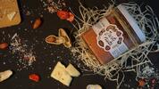 300 g Arašidový krém (biela čokoláda / jahody)