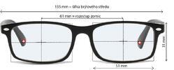 Okuliare na počítač BLF83C bez dioptrií