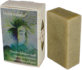 """85 g Prírodné bylinkové mydlo s konopnými otrubami a zelenou riasou ,,Večná mladosť"""""""