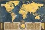 Stieracia mapa sveta Deluxe XL (coffee edition)