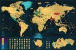 Stieracia mapa sveta Deluxe XL (slovenská verzia)