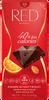 20 x 100 g Horká čokoláda so zníženým obsahom kalórií RED Delight (mandle/pomaranč)