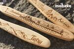 Bambusové zubné kefky s gravírovanou grafikou miest
