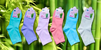 Dámske farebné bambusové ponožky